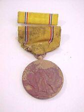 Orig. 1939 - 1941 WW II U.S. Army Military AMERICAN DEFENSE Bronze Medal