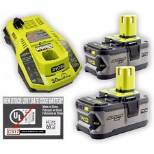 *TWO* NEW Ryobi One+ High Capacity 4.0Ah Battery P108 & Intelliport FAST Charger