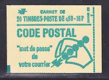 FRANCE CARNET 1893-C1a ** MNH carnet fermé, conf. N° 8, TB, cote: 54 €