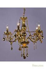Dusx Glimmer oro Lampadario 5 bracci lampadario luce