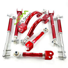 Adjustable Suspension Camber Arm Drift FOR Nissan 200sx S14 S15 / R33 R34 RED