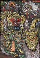 SUDARMA (XX) RARE Original gouache Ubud Bali Indonesia Ida Dewa Ketut Baru 1985