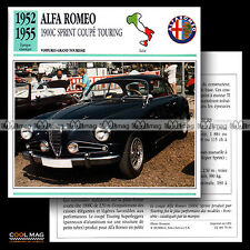 #079.10 ALFA-ROMEO 1900 C SPRINT COUPE TOURING (1952-1955) - Fiche Auto Car card