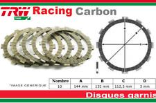 Jeu 10 Disques Garnis d'Embrayage Renforcé Carbon Kawasaki KLZ 100 Versys 12-14