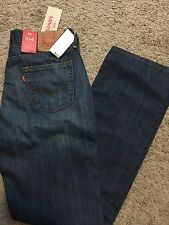 NWT LEVIS JEANS 514 Mens Blue Straight Leg 34X30 MSRP $60