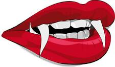sticker decal car bike bumper halloween spooky kid horror lips vampire