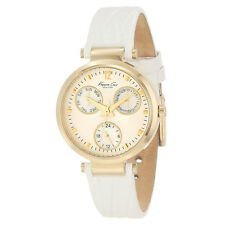 Kenneth Cole KC2561 Women's Beige Dial White Leather Band Watch
