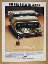 1963 Royal Electress Electric Typewriter photo vintage print Ad