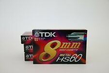 4x TDK 8mm HS 60, OVP, NOS