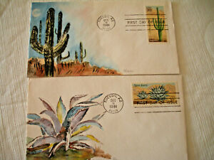 2 Ham First Day Desert Covers Tucson, AZ 1981 showing cactus