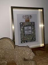 Handmade Diamante Chanel Perfume Bottle Wall Art