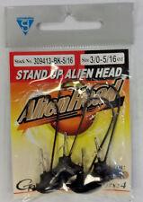 Gamakatsu- 5/16oz Alienhead Size 3/0- 309413-BK-5/16- Black- 678JJJ