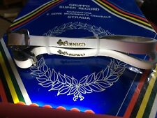 NOS Colnago leather Vintage Bicycle White PEDAL TOE STRAPS NOS NICE LQQK