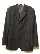 A--Mens Dress Suit Jacket Size 48L Dark Gray Thee Button Pierre Cardin Paris 101