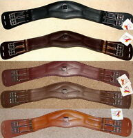 Dressage Stirrup Leathers TMD with Loop calfskin dressage Dough Underwired Mono Brown