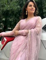 Saree Sari Pakistani Bridal Indian Bollywood Designer Weeding Party Wear Pakis k