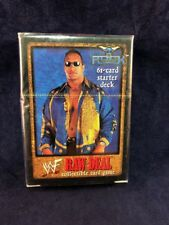WWE Raw Deal Collectible Card Game The Rock Starter Deck Dwayne Johnson
