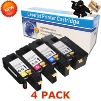 4PK Toner Set 1250 Blalck Cyan Magenta Yellow For Dell Color Laser C1760 C1760nw