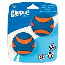 Chuckit Ultra Squeaker Ball Durable High Bounce Chewable Dog Toy Medium 2pack