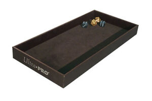 "Ultra Pro Premium Velvet Lined Dice Rolling Tray - 1"" Tall Walls / Non-Slip Feet"