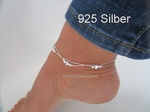 925 Silber Herz Fußkettchen 22- 25 cm Weiß -Nur begrenzte Stückzahl Sommer Trend