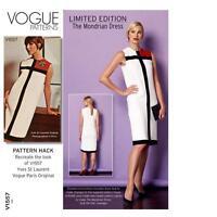 VOGUE SEWING PATTERN MISSES' MONDRIAN GBSB BLOCK MOD 1960's  DRESS  8 - 24 V1557