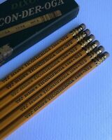 Vintage Dixon Ticonderoga 1386 Pencil Lot of 6 Box Early 1930s Double Yellow USA
