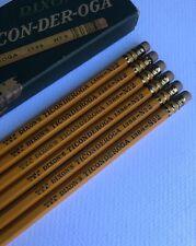 Vintage Dixon Ticonderoga 1386 Pencil Lot of 6 Box Early 1930s Double Yellow Usa