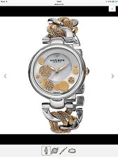 Akribos XXIV silver and gold tone watch