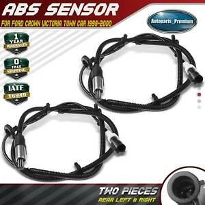 New ABS Wheel Speed Sensor Rear Left /& Right For Ford Crown Victoria 3W1Z2C190AB