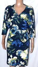 Kaleidoscope Women Dresses Floral Print V-Neck Dress Washable Size 12 BNWT