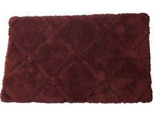 Rich Rust Diamond Pattern Bath Rug 20x34 Cotton Plush Accent Mat