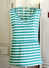 Maternity tops cotton nursing striped cami tank pregnancy breastfeeding shirts