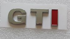 GTI insignia emblema Calcomanía Auto Van Calcomanía 3D Cromo VW Golf Peugeot Suz