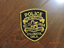 OK Oklahoma Stillwater 1st Settlement Unassigned Land Police Patch #K49