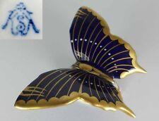 Schmetterling, Porzellan, Krautheim & Adelberg, Kobalt Gold, Handbemalt, um 1920