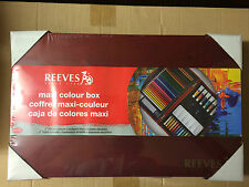 REEVES Maxi Colour Wooden Box with Vibrant Colours