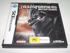 Transformers Decepticons Nintendo DS 2DS 3DS Game *Complete*