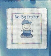 Baby Birth New Big Brother, New Big Sister Card Cross Stitch Pattern (a1bc0b67)