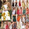 Women Holiday Strappy Button Pocket Ladies Summer Beach Midi Swing Sun Dress Lot