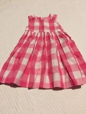 Mothercare Dress, Pink & White Checked, 12-18 Months