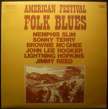 LP V.A.American Festival Folk Blues - Memphis Slim, B.McGhee, J.L.Hooker