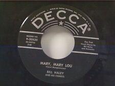 """BILL HALEY """"MARY MARY LOU / IT'S A SIN"""" 45"""