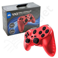 Genuino Gioteck VX3 con cable PLAYSTATION 3 PS3 MANDO - rojo NUEVO