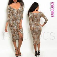 Regular Size Rayon Animal Print Dresses for Women