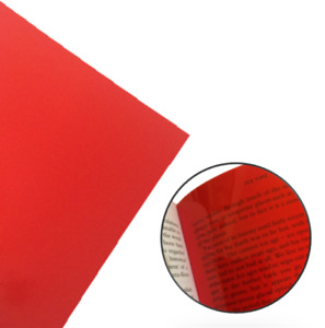 4x Red Reading Overlays A5 Pack - Visual Stress Relief Dyslexia Aid PVC Sheets