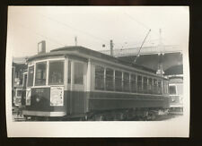 British Columbia Electric Railway BCER Trolley #212 - Vintage B&W Railroad Photo