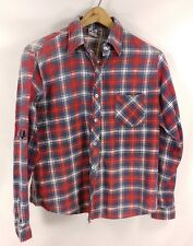 Vtg. Woolco Ultra Distressed Worn Hole Work Flannel Shirt - Small