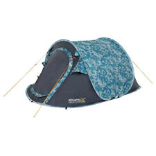 Regatta Malawi 2 Printed 2 Man Pop-Up Tent With Pattern Green Tropical Ideal For