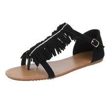 Flache Damen-Sandalen & -Badeschuhe Fransen